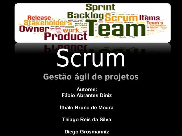 ScrumGestão ágil de projetos          Autores:    Fábio Abrantes Diniz    Íthalo Bruno de Moura    Thiago Reis da Silva   ...