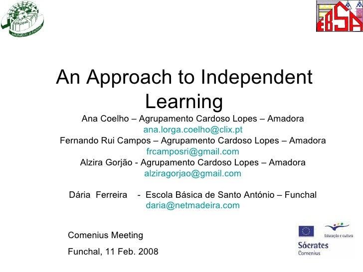 Apresentacao independent learning madeira