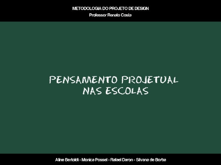 Card-Analysing (Pensamento projetual nas escolas)