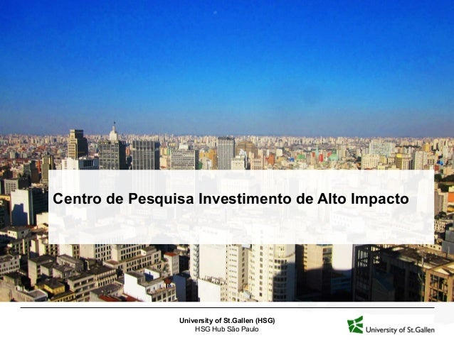 Presentation of the HSG Hub Impact Investing Research Center