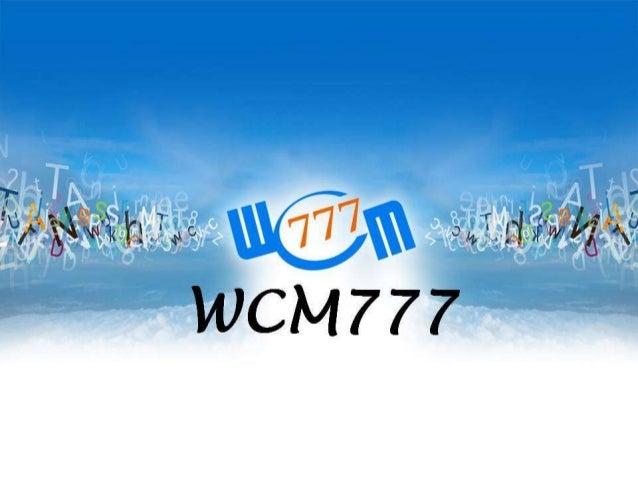 Apresentacao wcm777