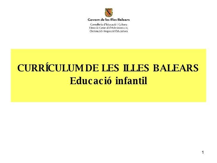A Presentacio Curriculum Infantil
