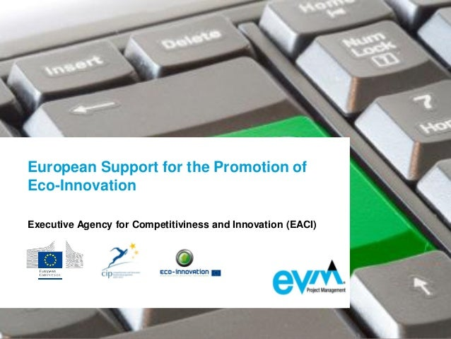 European Support for the Promotion of Eco-Innovation Executive Agency for Competitiviness and Innovation (EACI)