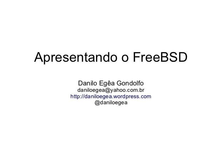 Apresentando o FreeBSD