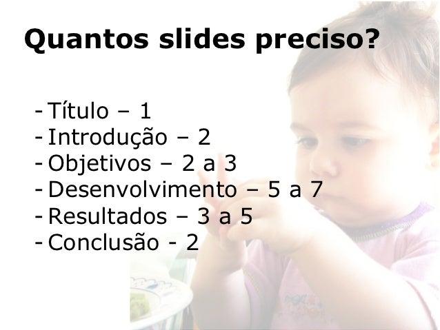 Quantos slides para uma apresentação de 20 minutos