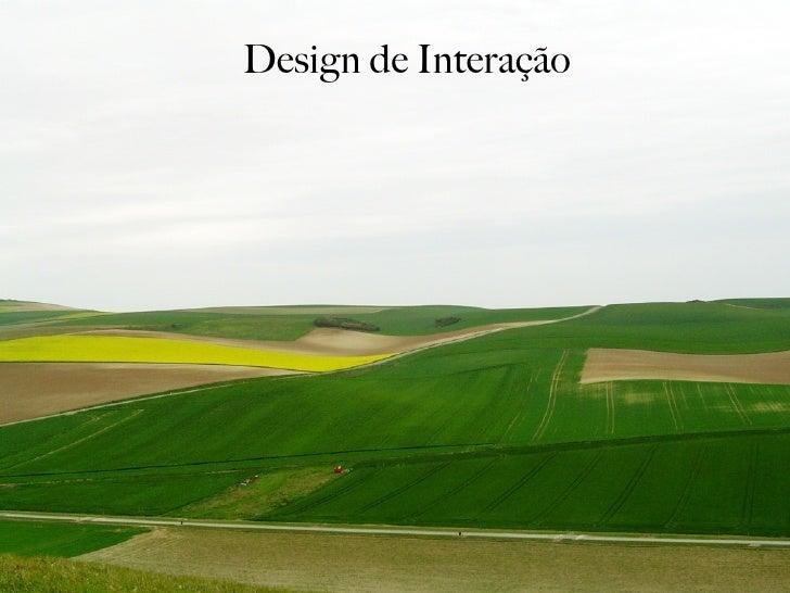 Design de Interação - Parte 3