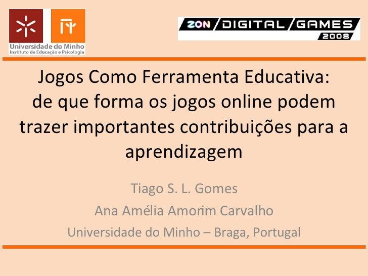 Jogos Como Ferramenta Educativa: de que forma os jogos online podem trazer importantes contribuições para a aprendizagem T...