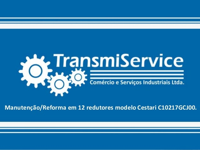 TransmiService - Manutenção / Reforma  de 12 Redutores - Cestari C10217GCJ00