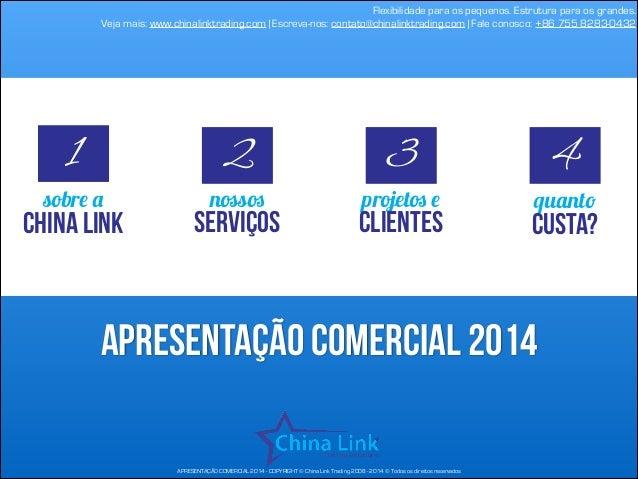 Flexibilidade para os pequenos. Estrutura para os grandes. Veja mais: www.chinalinktrading.com   Escreva-nos: contato@chin...