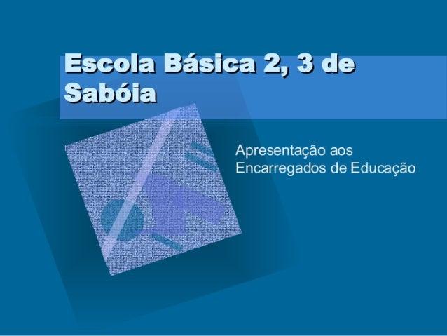 Apresentação aos Encarregados De Educação 1ºP