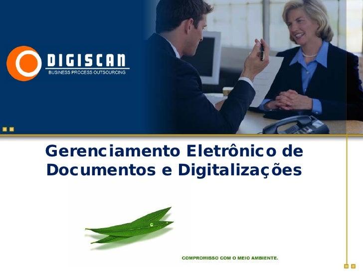 Gerenciamento Eletrônico de Documentos e Digitalizações