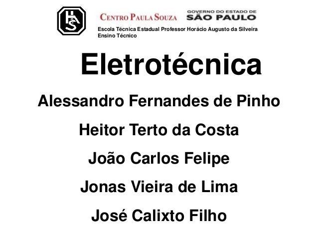 Escola Técnica Estadual Professor Horácio Augusto da Silveira Ensino Técnico Alessandro Fernandes de Pinho Heitor Terto da...