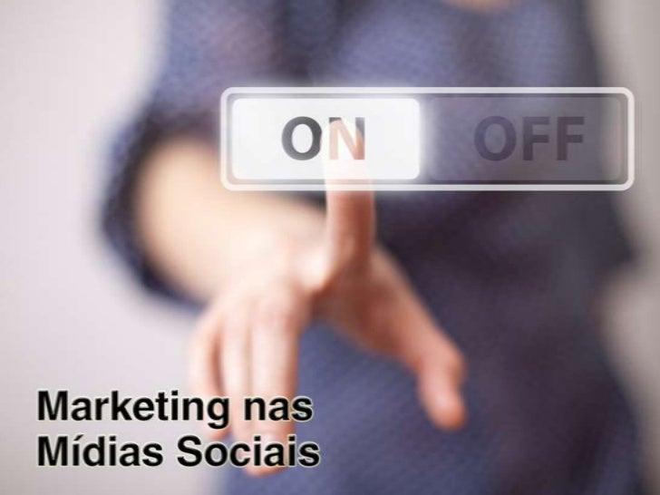 Apresentação - Curso de Marketing nas Mídias Sociais