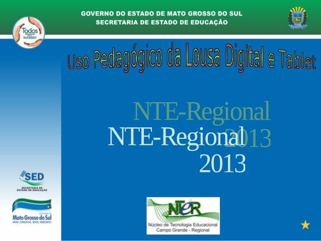 Lousa Digital - NTE Regional