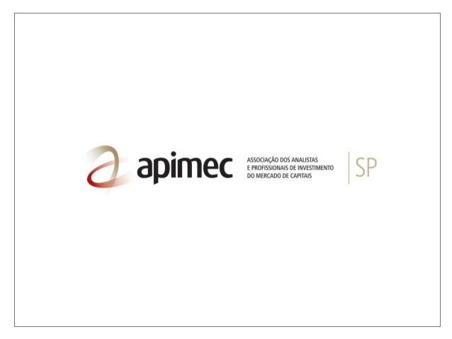 Apresentação   reunião apimec 2012