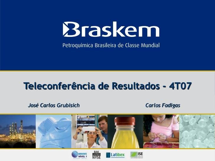 Apresentação   teleconferência de resultados 4 t07