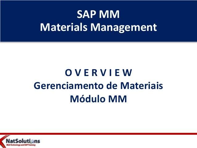 Apresentação  Visão Geral - Módulo SAP MM