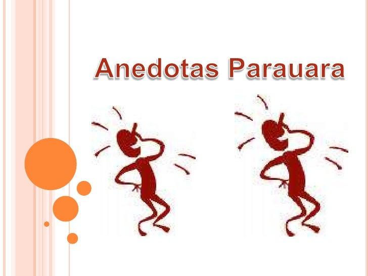 Anedotas Parauara<br />