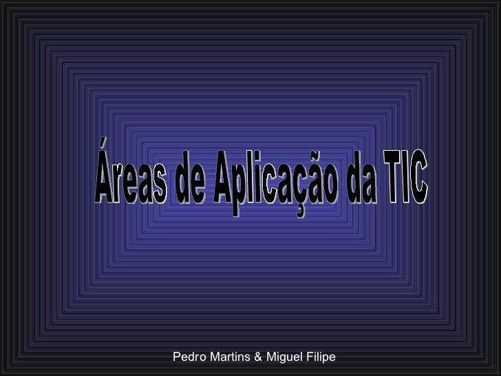 Áreas de Aplicação da TIC Pedro Martins & Miguel Filipe