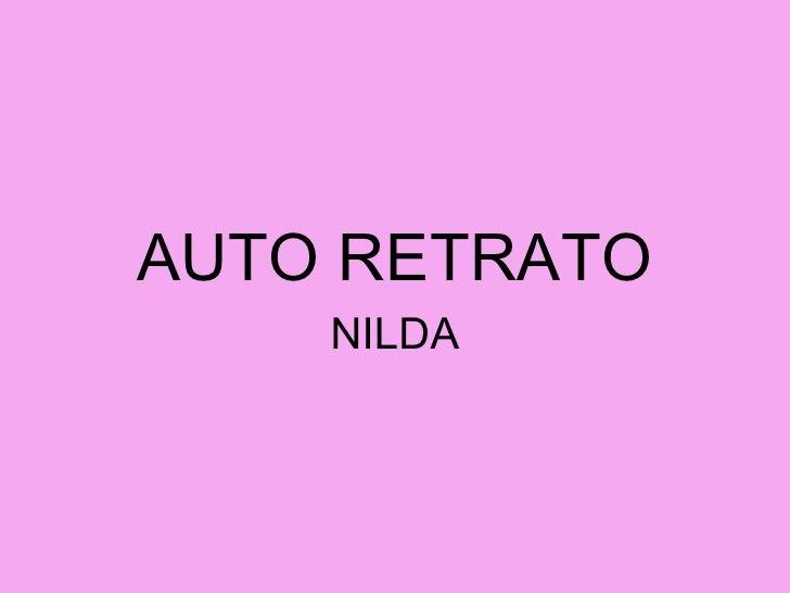 AUTO RETRATO NILDA