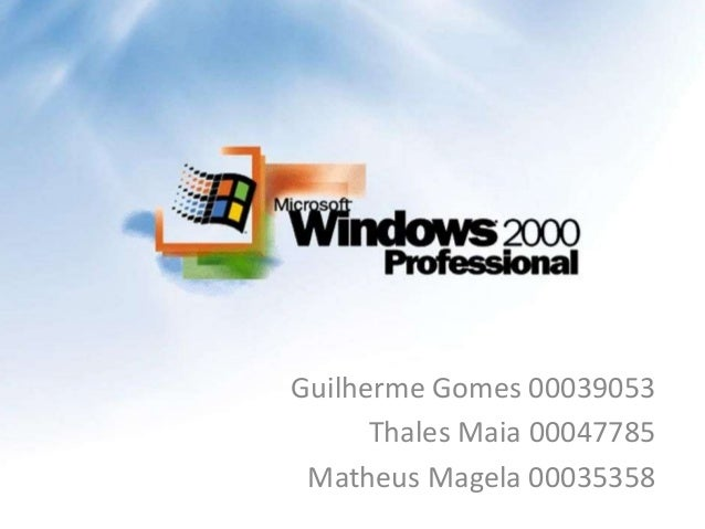 Guilherme Gomes 00039053      Thales Maia 00047785 Matheus Magela 00035358