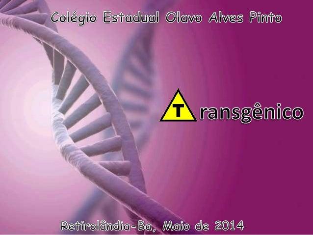 1. DEFINIÇÃO DE: 1.1 – TRANSGÊNICO 1.2 – ALIMENTOS TRANSGÊNICOS 1.3 –TRANSGENIA 1.4 – TRANSGÊNICOS NO BRASIL