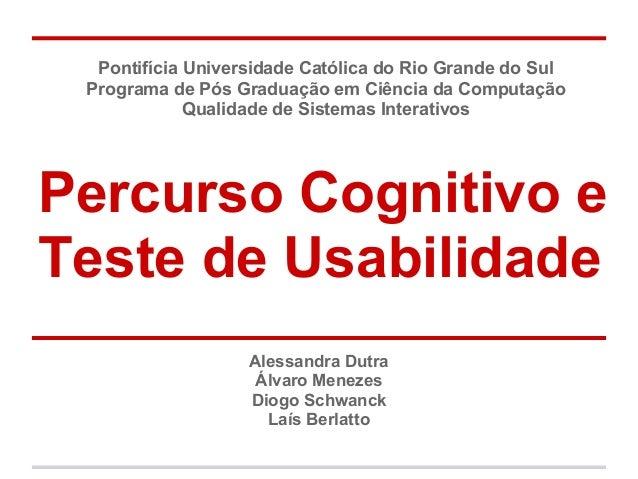 Pontifícia Universidade Católica do Rio Grande do Sul Programa de Pós Graduação em Ciência da Computação Qualidade de Sist...
