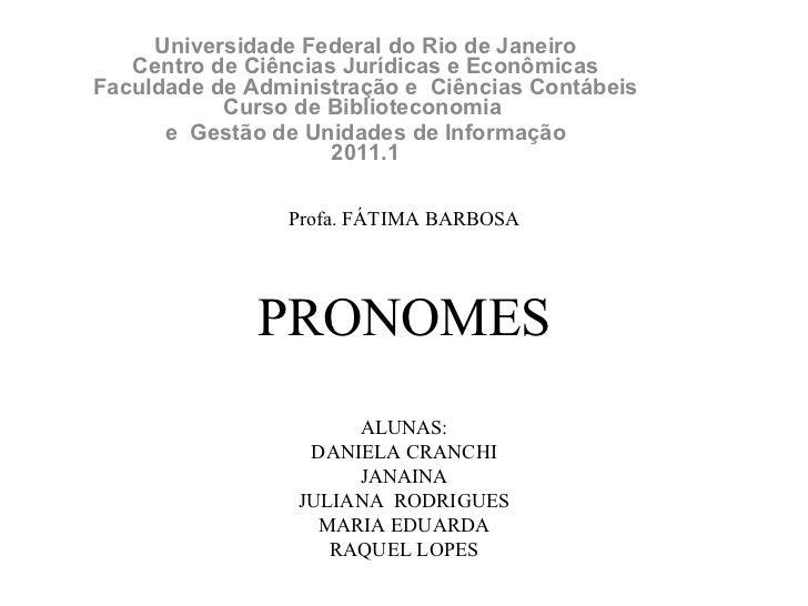 Apresentação1 pronomes