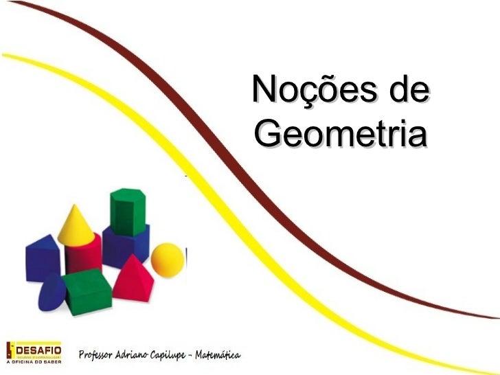 Noções de Geometria