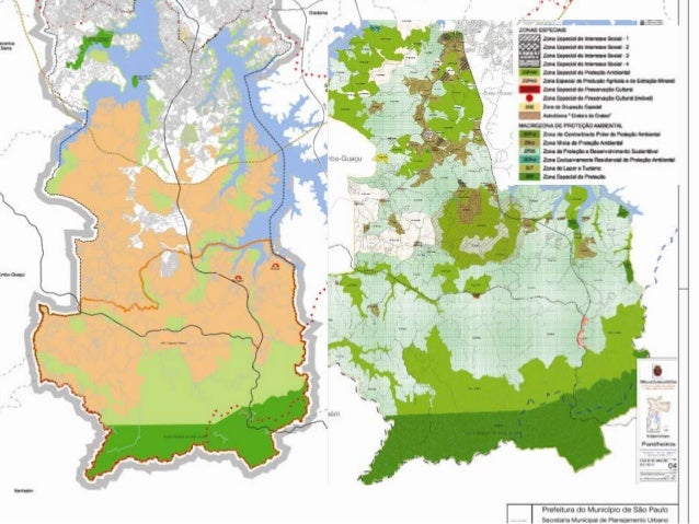 Mapa de Zoneamento e Plano Diretor de São Paulo