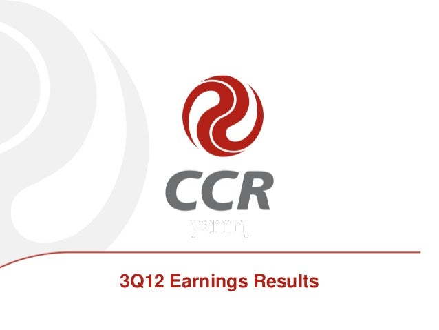 3Q12 Earnings Results
