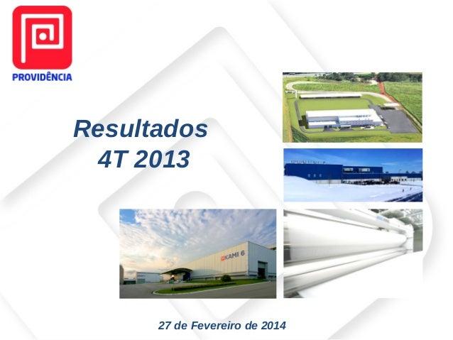 Resultados 4T 2013  27 de Fevereiro de 2014