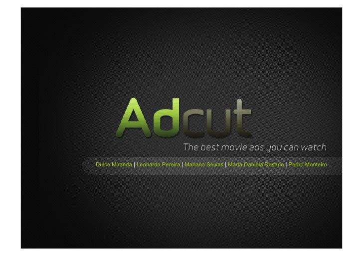Adcut's presentation (Master's Assignment)