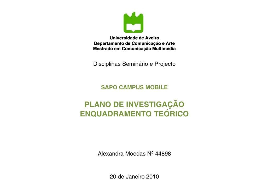 Universidade de Aveiro                          Aveiro   Departamento de Comunicação e Arte   Mestrado em Comunicação Mult...