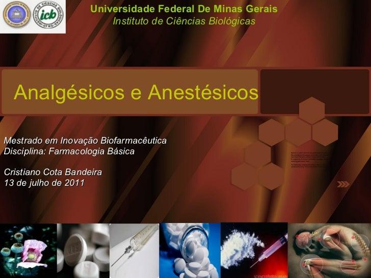 Analgésicos e Anestésicos Cristiano