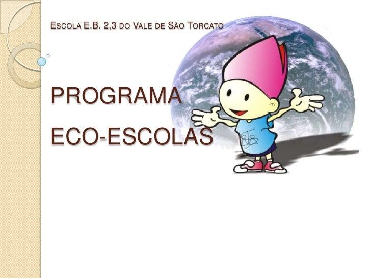 Apresentação ao conselho eco escolas