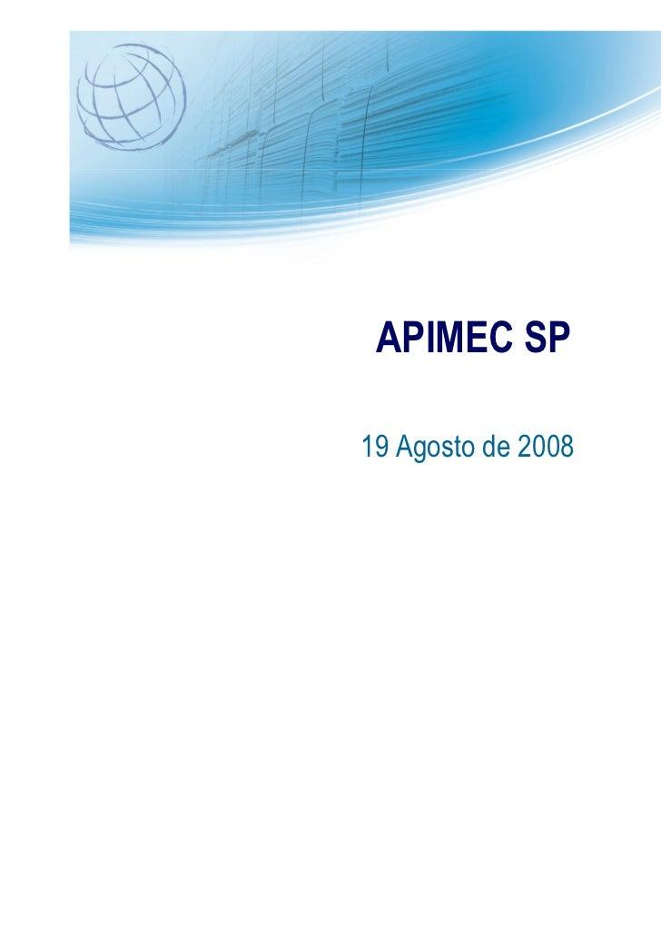 Apresentação apimec 2008