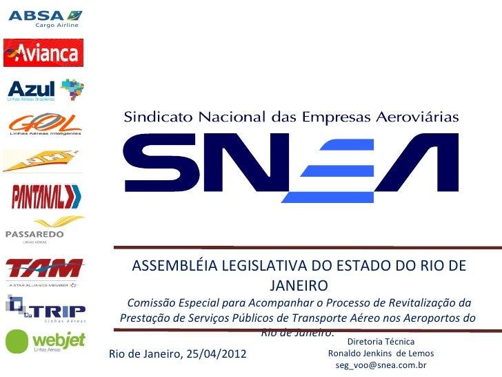 Indústria do Transporte Aéreo (apresentado pelo SNEA)