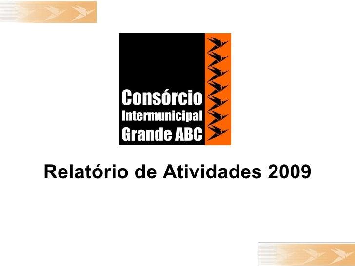 ApresentaçãO Atividades 2009