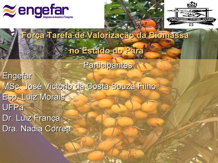 <ul><li>Participantes  </li></ul><ul><li>Engefar </li></ul><ul><li>MSc. José Victório da Costa Souza Filho </li></ul><ul><...