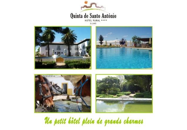 Au coeur de l'Alentejo, situé entre Elvas et Badajoz, Hôtel Rural Quinta de Santo António **** est une véritable oasis pou...