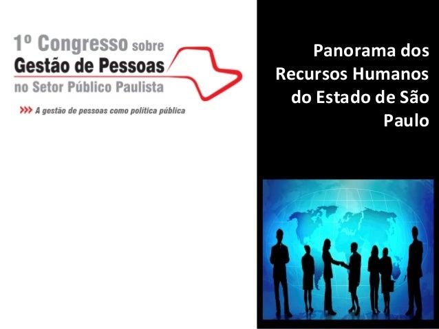 Panorama dosRecursos Humanos do Estado de São            Paulo
