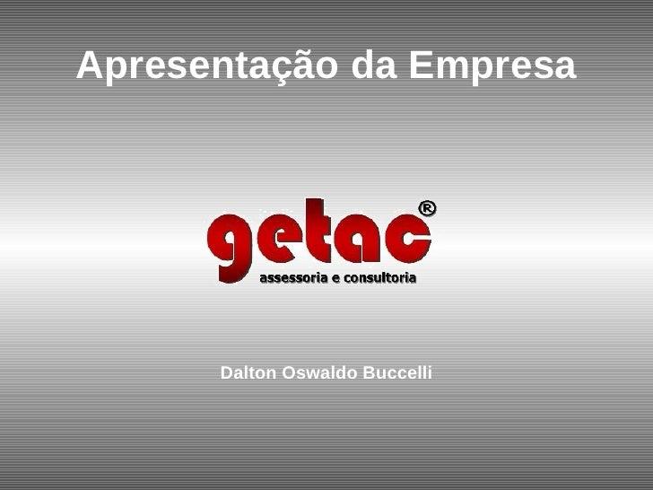 Apresentação da Empresa Dalton Oswaldo Buccelli
