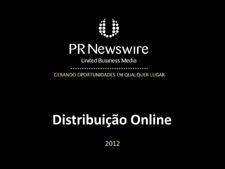 Apresentação distribuição online 2012