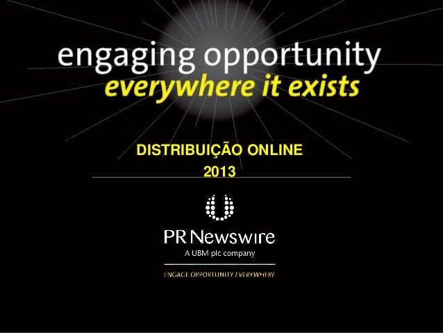 Apresentação distribuição online 2013   final
