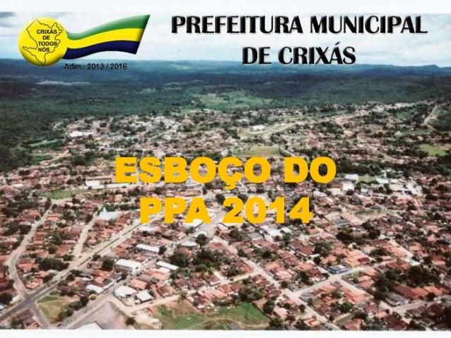 ESBOÇO DO PPA 2014