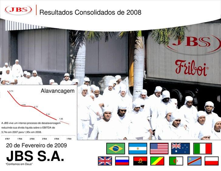 Apresentação dos Resultados de 2008