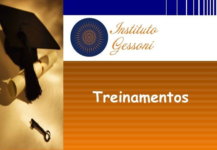 Treinamentos InstitutoGessoni