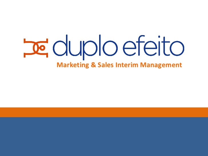 Marketing & Sales Interim Management