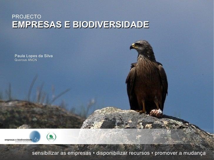 Apresentação Empresas e Biodiversidade
